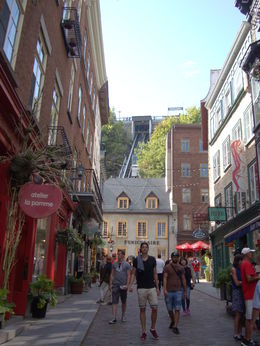 Quebec's historic Lower Town showing the funicular railway , Karen S - September 2015