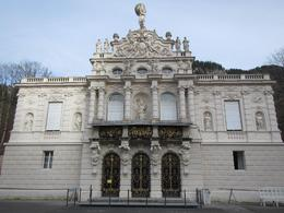 King Ludwig II completed his Royal Villa in 1878. Oddly enough, he didn't like to entertain at his Villa so built a dumb waiter underneath his dining room table so his staff could put the food ... , Jim P - November 2014
