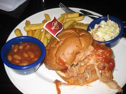 The pulled pork burger from the gold menu. Delicious!, Genevieve C - November 2010