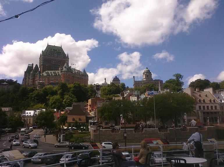 View of Quebec City from tour boat - Montreal