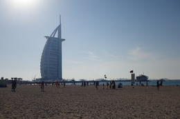 Burj Al Arab from the beach , JMo - November 2016