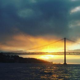 25 de Abril Bridge with sunset , Saskia S - October 2017