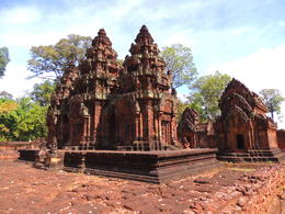 Banteay Srei is a temple built about 1,000 years ago dedicated to shiva. , Kevin F - December 2014