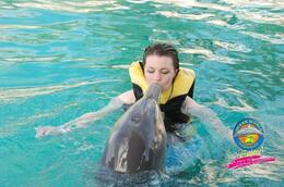 Kissing the dolphins! - April 2011