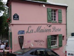 La Maison Rose taken on June 20th on the Montmarte Impressionist Art Walking Tour. , Randall M - June 2015