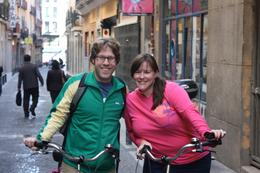 Me and my husband on our bikes., Tara C - October 2010