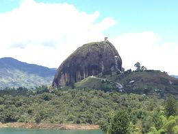 A picture took on the way to Guatape where you can see from the distance the whole Penol , rtoribio - November 2015
