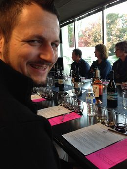 Ready to do some tasting, Trina Tron - December 2014