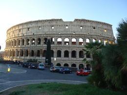 Our first view of the colosseum , Donna C - October 2016