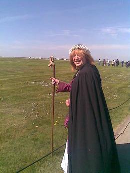 Druide at Stonehenge , Kristine K - May 2013