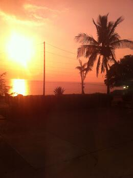sunset near the macadamias shop , Ma Y - March 2013