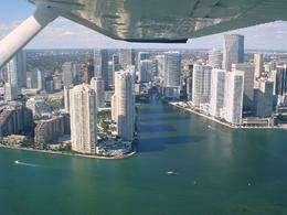 One of the great views, aerial tour of Miami, Monique B - December 2008
