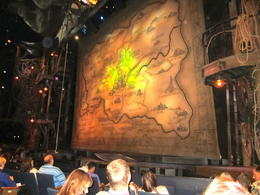 The view from our seats on the side and the Oz curtain. , Dorothy O - September 2013