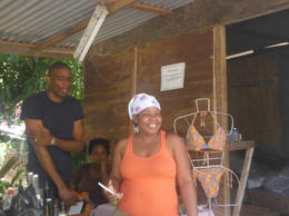 the lady that owned the rum Stall - I cant remember her name- lovely woman , Carole W - March 2017