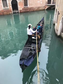 Gondola Boat In The Canal of Venice, Italy , NATALIE A - November 2017