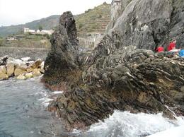 Rocks near the dock in Manarola , Megan S - October 2012
