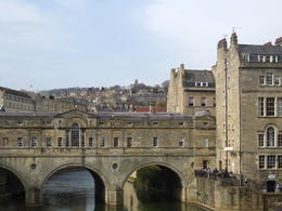 This is the waterfront near the bus drop-off/pick-up spot in Bath. , Maria - April 2014