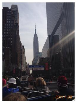 View of Empire State building from the open top bus - awesome (as the yanks would say!) , Lynn R - November 2014