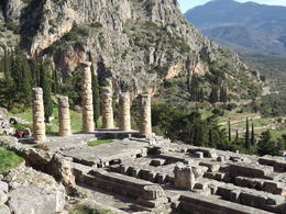 Looking down at the temple of Apollo , gerald d - December 2013