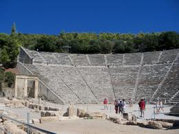 Epidaurus: Walking up to theatre, Debra P - September 2010