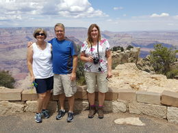Sheila, Mark and Julie, at Grand Canyon , Julie D - August 2016