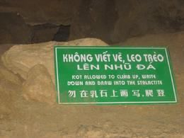 Sign in the cave - May 2010
