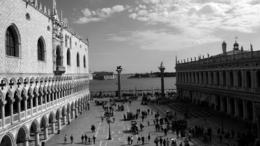 Taken from the balcony of St Marks Basilica looking out over the Piazza San Marco towards the Lagoon , Calum McLean - April 2013
