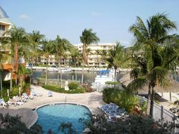 Scene from our balcony at the Ramada Hotel, Key Largo. The overnight stop. - June 2010