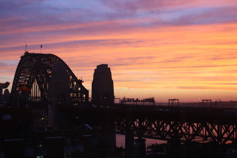 Sunset over the bridge - Sydney