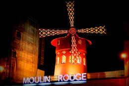 The Moulin Rouge windmill after the 11pm show. , Rachel T - January 2014