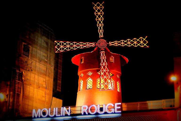 The Moulin Rouge at Night - Paris