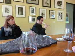 Tasting the excellent Syrah at Quixote., Kelly G - February 2010