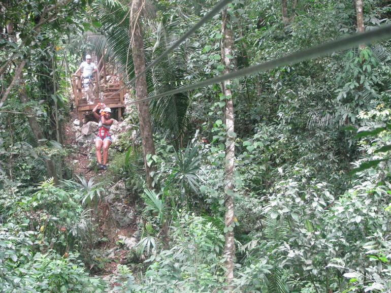 Zipping thru the jungle! - Belize City