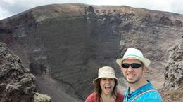 My fiancé and I at the crater of Mount Vesuvius , James - May 2017