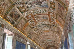 Beautiful celling in the Vatican Museum , Jacques L - August 2017