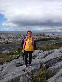 Beth at The Burren , Beth C - October 2015
