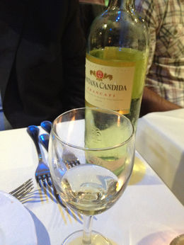 There's a glass of prosecco included in the meal price to begin the meal, but wine with dinner is optional. There's a nice selection of bottles to choose from, and the prices are quite reasonable. , Stephen C - October 2015