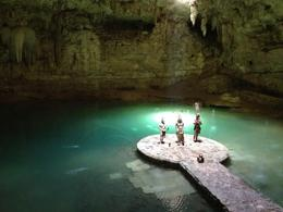 Visiting Cenotes Cave , Karina N - March 2013