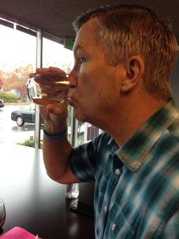 First sip, Trina Tron - December 2014