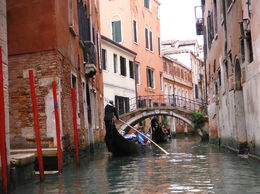 Travelling in a Gondola to the Grand Canal , Sandra S - April 2016