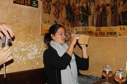 One of the tour members trying the Kwaak. , Destini K - November 2012