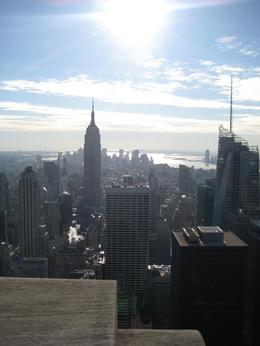Standing on top of the Rockefeller Center looking across Manhattan on my 40th birthday !, Louise G - December 2008