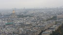 Panoramic view of Paris taken from Eiffel tower 2nd floor , Gabriela R - October 2015