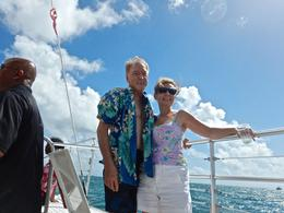 Merry and David on board , David H - September 2014