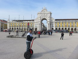 A huge square with a fairly grand Arco da Victoria. With a Segway, it made travelling as easy as ABC. , Khong Lim G - December 2015