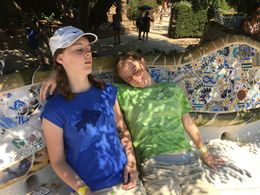 Park Güell Barcelona - a nice spot for a break - our guide included some rest time for the kids. :- , Eugene G - August 2016