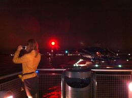 We were the only ones around at the Heliport. Here we were taking pictures of beautiful NY while waiting to board, Marky M - October 2012