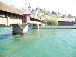 Wooden Bridge in Lucerne , Nidale T - June 2014