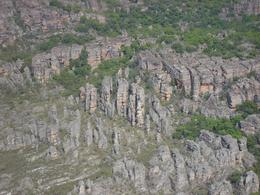 The massive stone country of Arnhem Land, taken from the small plane, Margaret G - September 2010