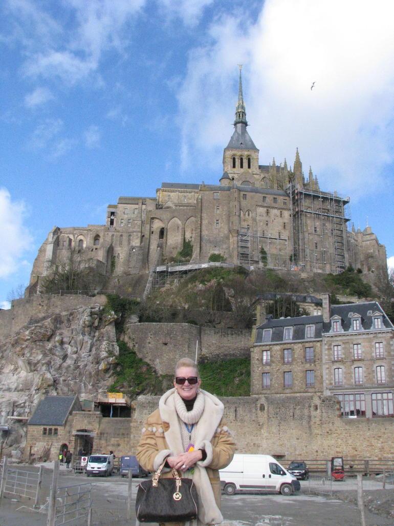 Debbie at Mont Saint Michel - Paris